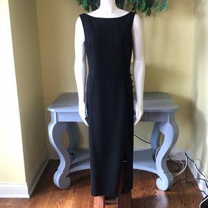 Tahari Cocktail Maxi Dress in Black Size 12